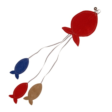 Flat Fish Cat Toy - Red