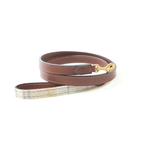 The Otis Sand Shetland Wool Leather Dog Lead