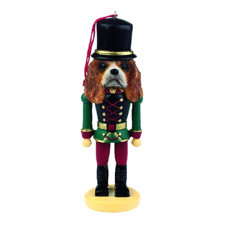 King Charles Spaniel Nutcracker Soldier Ornament