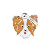 My Family - Papillon Engraved ID Tag