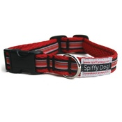 SpiffyDog - Red Striped Collar