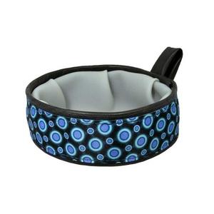 Trail Buddy Pet Travel Bowl – Blue Space Dots