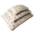 Dogs Linen Pillow Bed - Natural