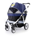 Navy Blue Retro Dog Buggy