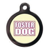 PS Pet Tags - Foster Dog Pet ID Tag - Pink
