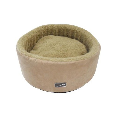Sand Round High Sided Cat Bed