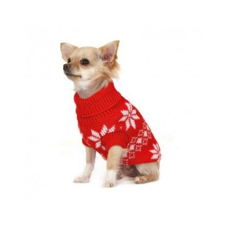 Red Snowflake Dog Sweater 3