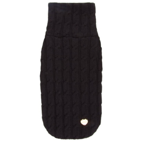 Black Braided Luxury Dog Sweater