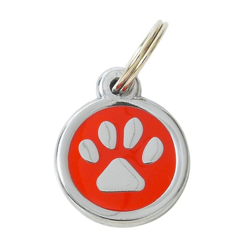 My Sweetie Red Paw Pet ID Tag