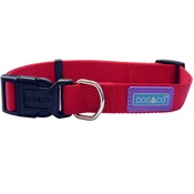 Hem & Boo - Nylon Adjustable Dog Collar - Red