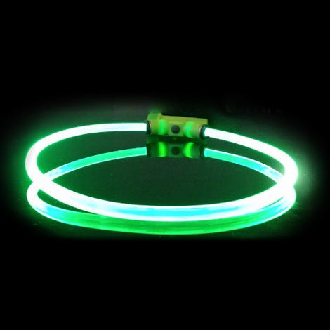 Lumitube Light Up Dog Collar - Green