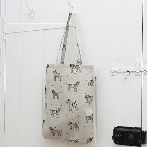 Dogs Linen Tote Bag - Natural 2