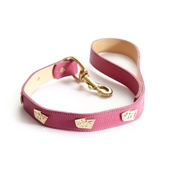 Woof! - Woof Leather Dog Lead - Pink