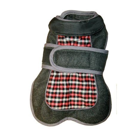 Go Walk Tweed Dog Coat – Red Check