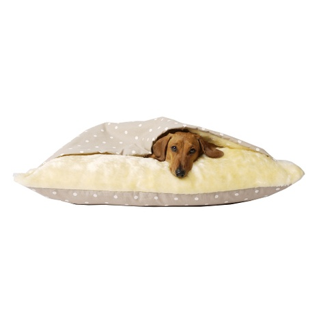 Snuggle Bed - Dotty Taupe