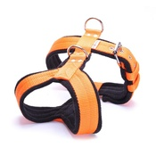 El Perro - 4cm Width Fleece Comfort Dog Harness – Orange