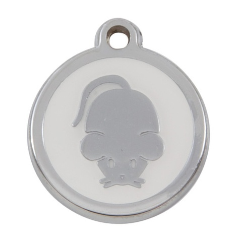 My Sweetie White Mouse Pet ID Tag