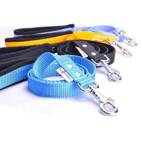 Fleece Comfort Dog Lead – Sky Blue 2
