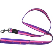 Hem & Boo - Paw Stripes Dog Lead - Pink