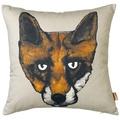 Fox Cushion in Grey