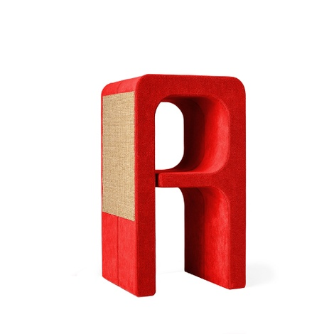 Scratching Post - Letter A - Red