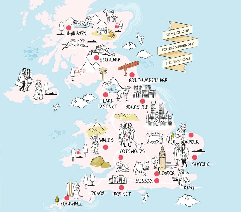 UK County map