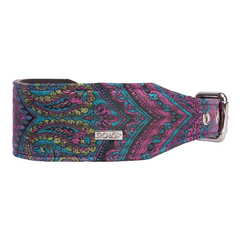 DO&G Oriental Silks Dog Collar - Paisley