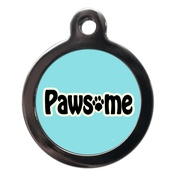 PS Pet Tags - Blue Pawsome Dog ID Tag