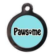 PS Pet Tags - Blue Pawsome Dog ID Tag