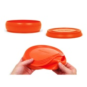 Long Paws - ThrowBowl Frisbee Water Bowl - Orange