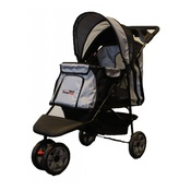 InnoPet - All Terrain Dog Buggy - Black/Silver