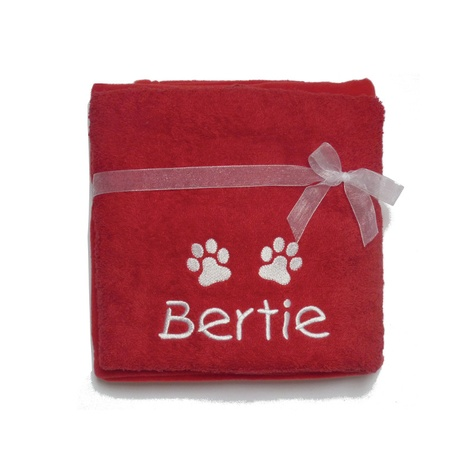 Personalised Santa Paws Gift Set – Red 2