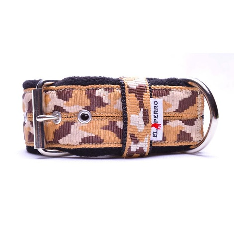 4cm Width Fleece Comfort Dog Collar – Safari Camo