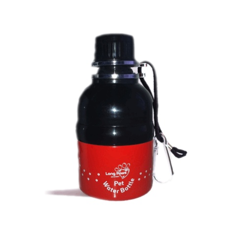 Puppy Tracks Red 250ml Pet Water Bottle