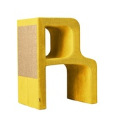 Catworks - Scratching Post - Letter R - Yellow