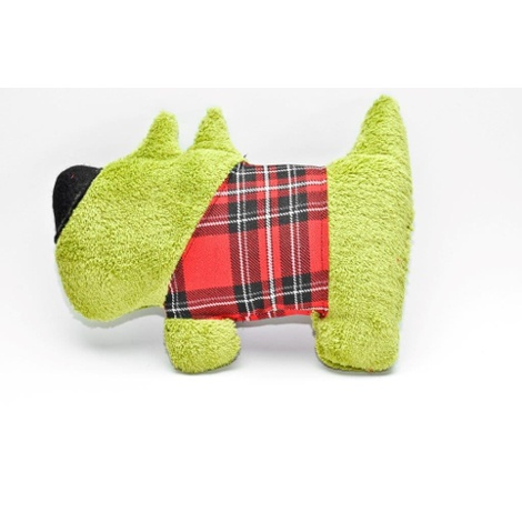 The Green Dog Bed with Dog & Heart Dog Toy 2