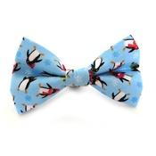 Ditsy Pet - Christmas Penguin Dog Dickie Bow