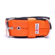 El Perro - 4cm Width Fleece Comfort Dog Collar – Orange