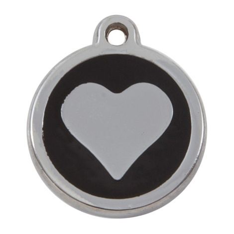 My Sweetie Black Heart Pet ID Tag
