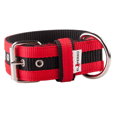 Juicy Strip Dog Collar - Red