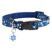Bobby - Flower Dog Collar - Blue