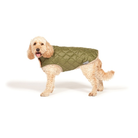 Quilted Dog Coat - Forest Green