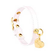 Chihuy - White and Gold Stitch Leather Collar