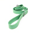 Pale Green Leather Dog Lead