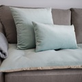 Lustre Velvet Sofa Topper - Seaspray 2