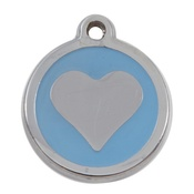 Tagiffany - My Sweetie Light Blue Heart Pet ID Tag