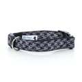 Black Houndstooth Dog Collar
