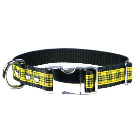 Scottish McLeod of Lewis Tartan Dog Collar – Black