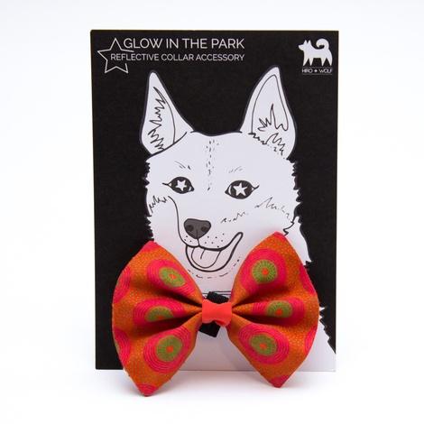Kiwi Shweshwe Dog Bow Tie 2