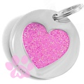 Pink Heart ID Tag